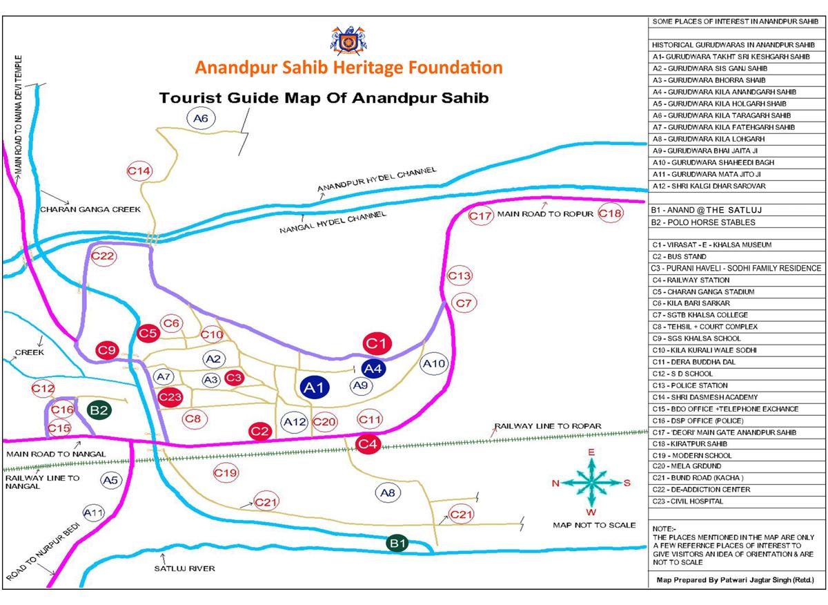 Anandpur Sahib Map